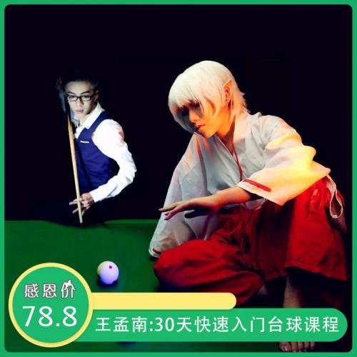 王孟南台球培训课程:台球30天快速入门 1-3个月实现一杆清实战视频教程(完整版)