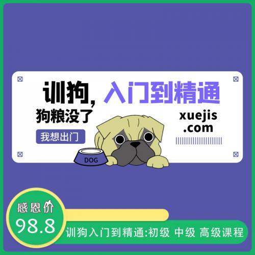 训狗入门到精通课程:初级 中级 高级训狗视频教程(完整版)