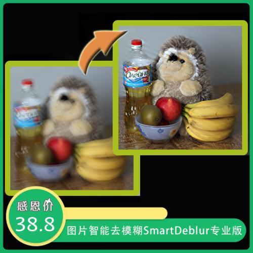 图片智能去模糊软件 SmartDeblur v2.3 专业中文版(已注册)